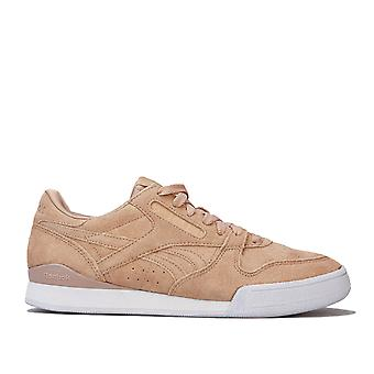 Womens Reebok Phase 1 Pro Trainers In Clean-Sahara / White