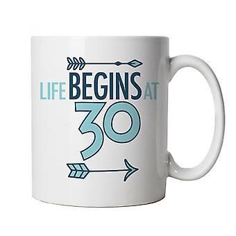 Life Begins At 30, Mug - Birthday Cup Gift