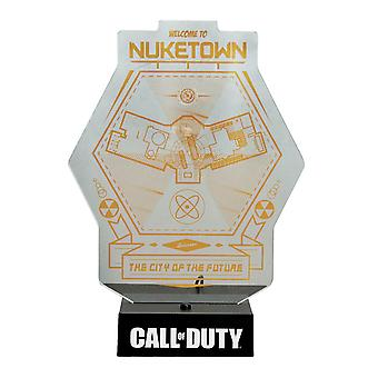 Call of Duty Lamp Nuketown Map black/transparent/orange, printed, made of plastic, in gift packaging.
