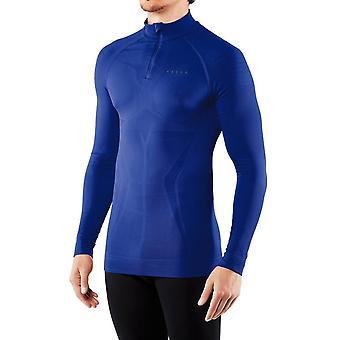 Falke Figura Hugging camicia zipped - Cobalt Blue