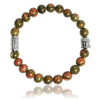 Lauren Steven Design ML058 Bracelet - Unakite Men's Natural Stone Bracelet