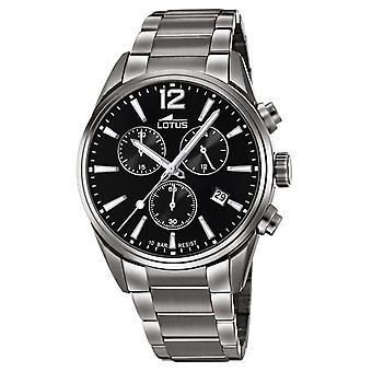 Lotus klocka L18682-3-CHRONO Dateur/kronograf stål grå svart urtavla män