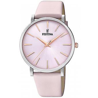 Festina Boyfriend Collection F20371-2 - Armbanduhr Leder rosa Frau zu sehen