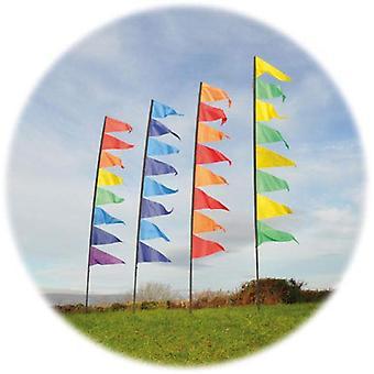 Duch powietrza wisiorek Banner Kit - żółty & zielony 3,40 m