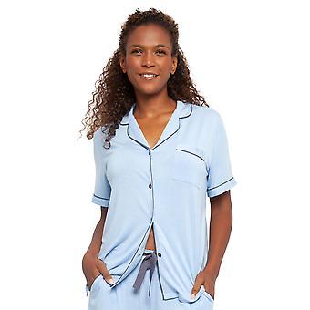 Cyberjammies 4408 Kvinnor's Olivia Blue Modal Knit Pyjamas Top