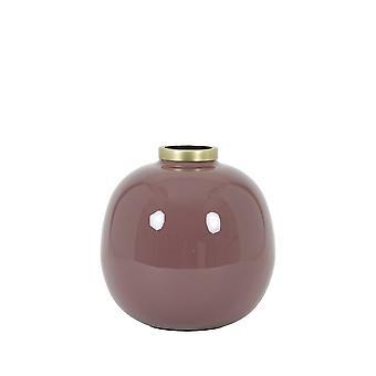 Light & Living Vase 22x22cm Chow Old Pink-Antique Bronze