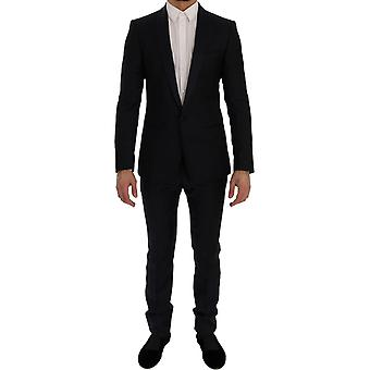Dolce & Gabbana Blue Fantasy One Button Martini Slim Suit