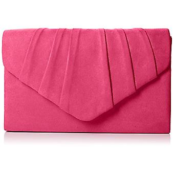 SwankySwans Womens Iggy suede Velvet Envelope party Prom clutch clutch pink (Pink (Fuschia)) Single size