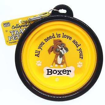 Wags & Whiskers Travel Pet Bowl - Boxer