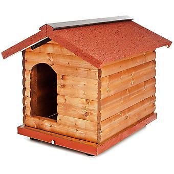 Ferribiella パイン木製犬小屋 (犬、犬小屋・犬小屋犬フラップ)