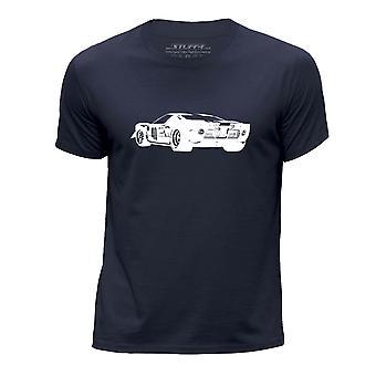 STUFF4 Chłopca rundy szyi samochód Shirt/Stencil Art / F GT40/granatowy