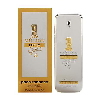 1.000.000 Lucky door Paco Rabanne voor mannen 3,4 oz Eau de toilette spray