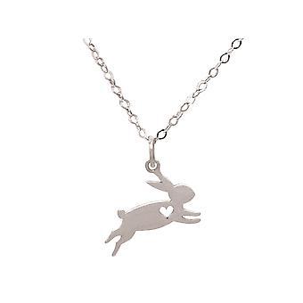 Lapin GEMSHINE, pendentif de lapin de Pâques 925 argent, or plaqué ou rose sur la chaîne de 45 cm