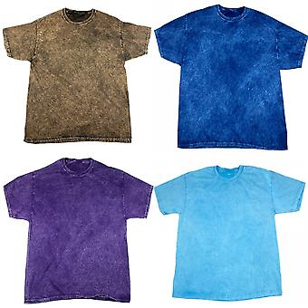 Colortone Mens Mineral Wash Short Sleeve Heavyweight T-Shirt
