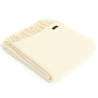 Tweedmill Pure New Wool Wafer Cream Throw