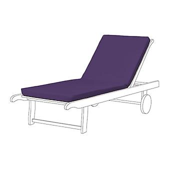 Gardenista Sun Lounger Furniture Cushion Pad | Water Resistant and Breathable Easy Clean Fabric for Outdoors | Modern & Elegance Gardens | Soft and Comfy | 1 Piece (Purple)