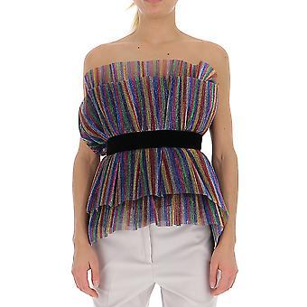 Attico 192wct15e006021 Frauen's Multicolor Baumwoll-Top