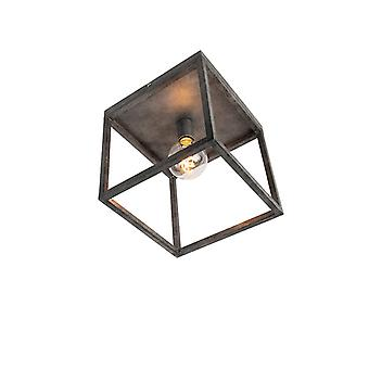 QAZQA Modern ceiling lamp antique silver - Big Cage