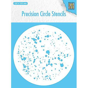 Nellie's Choice Precision stencils Round stencil dots MMPCS006 135x135mm