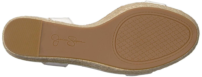 Jessica Simpson Kobiety Maylra Skóra Open Toe SlingBack Pompy klinowe sT6Ux