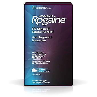 Kvinner & apos;s Rogaine 5% Minoxidil Hår Gjenvekst Behandling 4 måned Forsyning (2.11oz / 60g)