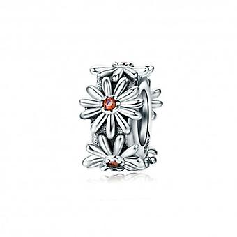 Sterling Silver Stopper Sparkling Daisy - 5576