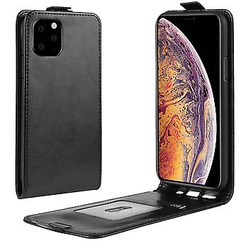 Wild Horse Vertical Flip Leather Protective Case for iPhone 11 Pro Max,black