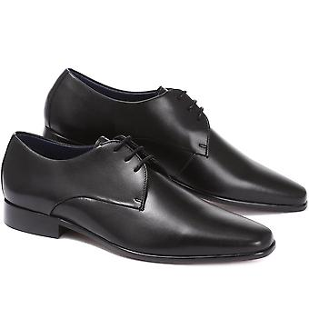 Jones Bootmaker Mens Dallas Sapatos de Derby de Couro