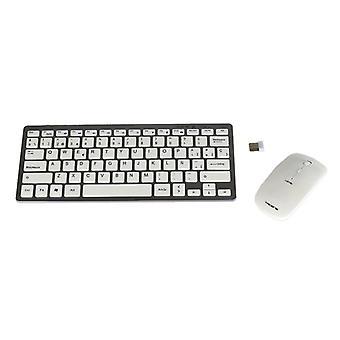 Tastatur und Wireless Mouse Tacens 6LEVISCOMBOV2 Weiß