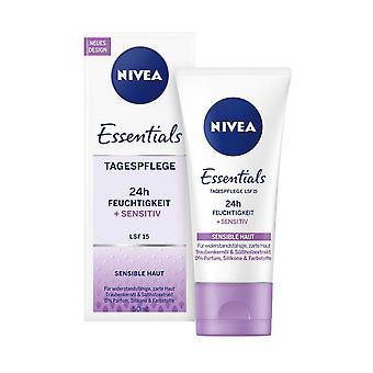 Nivea Day Cream 24h Soothing No Perfume 50ml Sensitive Skin SPF15