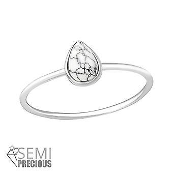 Teardrop - 925 Sterling Silver Jewelled Rings - W35719x