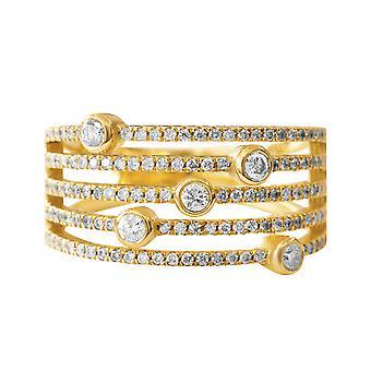 Ring NewYork 18K Gold und Diamanten
