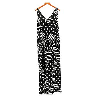 Laurie Felt Jumpsuits Tie-Front Sleeveless Black A352665