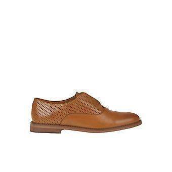 Antología Paris Ezgl503001 Mujer's Zapatos de encaje de cuero marrón