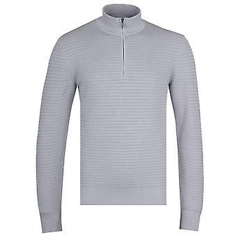 BOSS Oro Quarter-Zip Grey Knitted Sweater