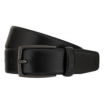 Strellson belts men's belts leather belt black 7556
