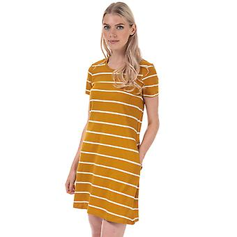 Women's Only May Life A-Line Stripe Dress in Yellow
