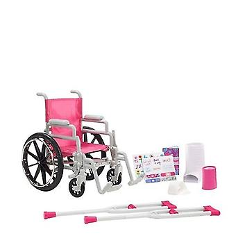 """私女の子 18""""人形車椅子プレイセットをします。"""