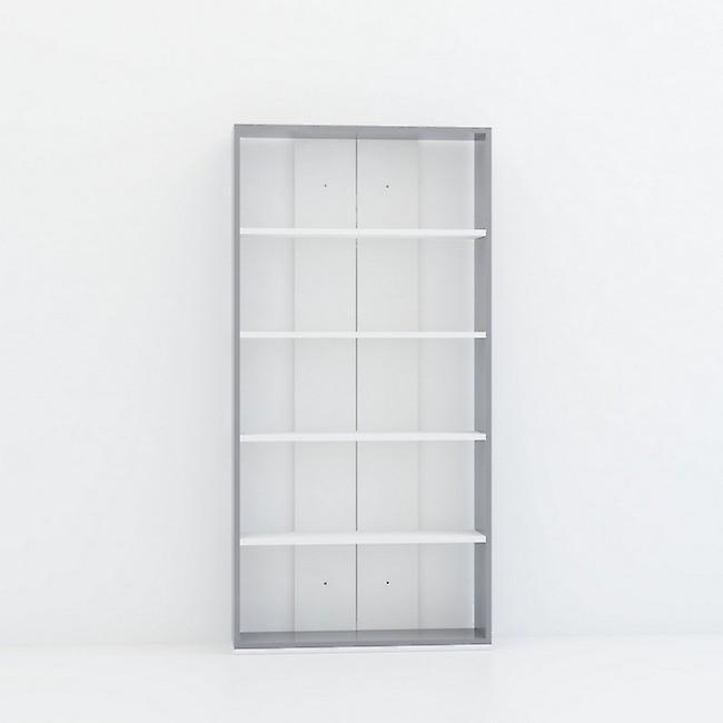 Libreria Java Color Bianco, Antracite in Truciolare Melaminico 80x22x163 cm