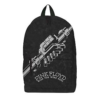 Pink Floyd Backpack Bag Wish You Were Here B/W Band Logo Official Rocksax Black