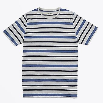 Oliver Spencer  - Conduit Marl Stripe T-shirt - Blue