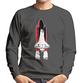 NASA Atlantis Shuttle Launch Men's Sweatshirt