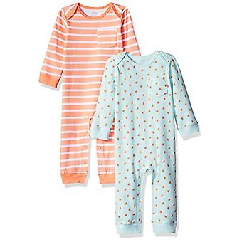 Essentials Baby 2-Pack Coverall, Girl Fruit, 18M