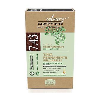 Capelvenere Värit - 7,43 Golden Copper Blonde 1 yksikkö