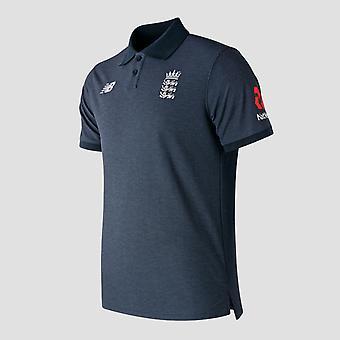 New Balance England Cricket Polo Shirt Mens