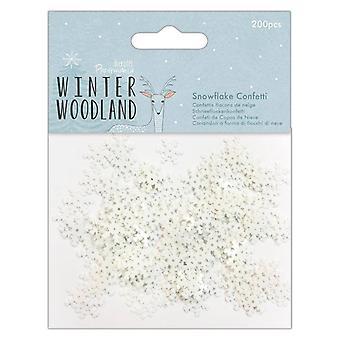 Papermania Winter Woodland Fiocco di neve coriandoli