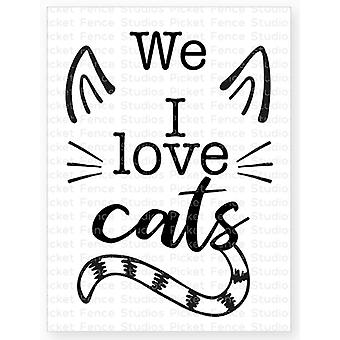 Picket Fence Studios I Love Cats Clear Stamps