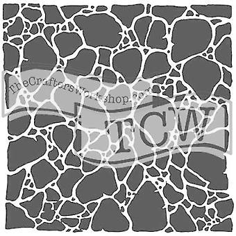 The Crafter's Workshop Organic Matter Stencil 6x6 Inch Stencil