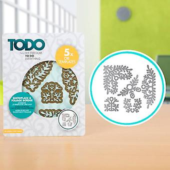 TODO Die Template Set Snowflake and Foliage Borders