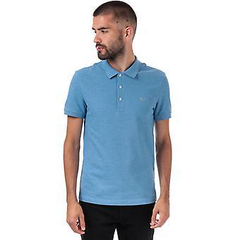 Men's Lacoste Slim Fit Petit Piqué Polo Shirt in blau